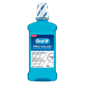 Enjuague Bucal Oral B Prohealth X 500 ml.