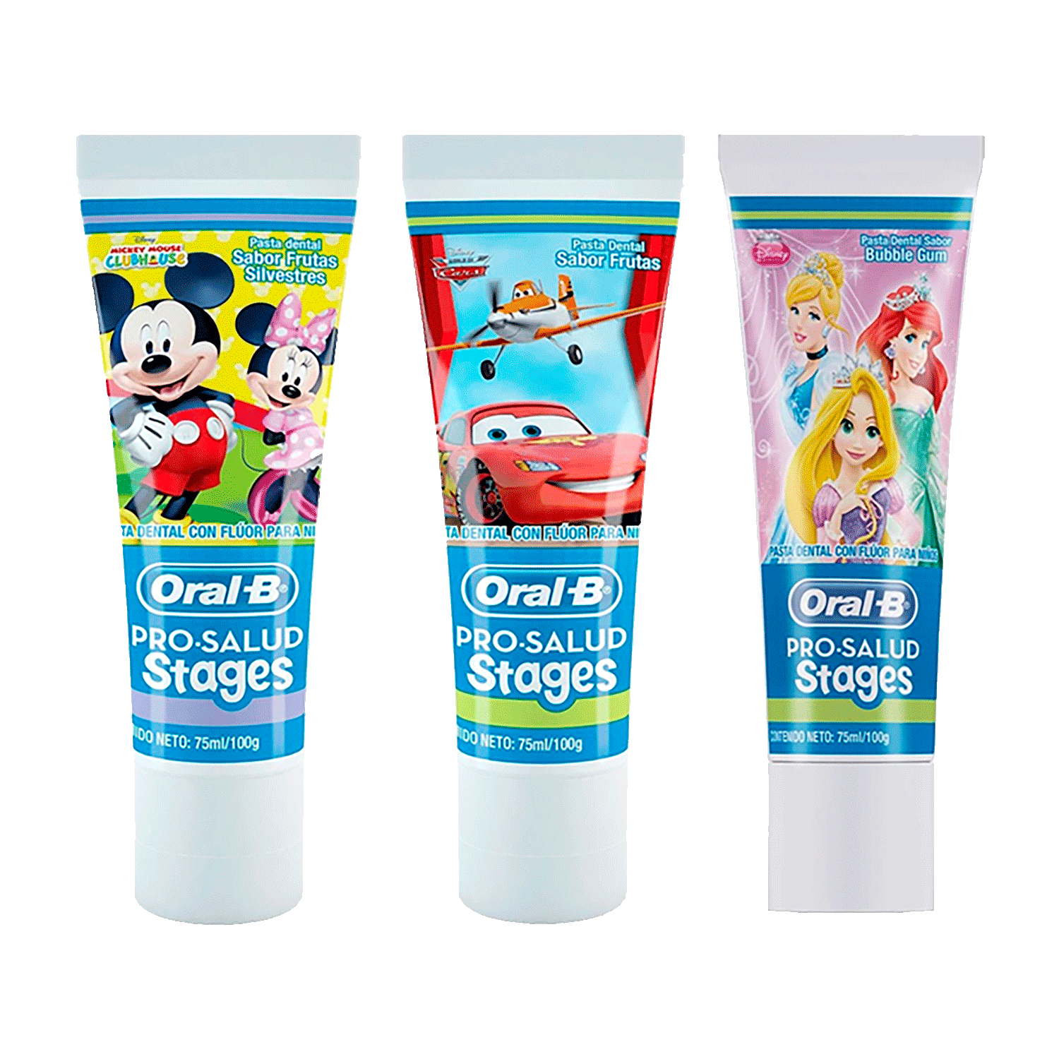 Crema Dental Oral B Kids Cars, Princess o Mickey X 75 ml.