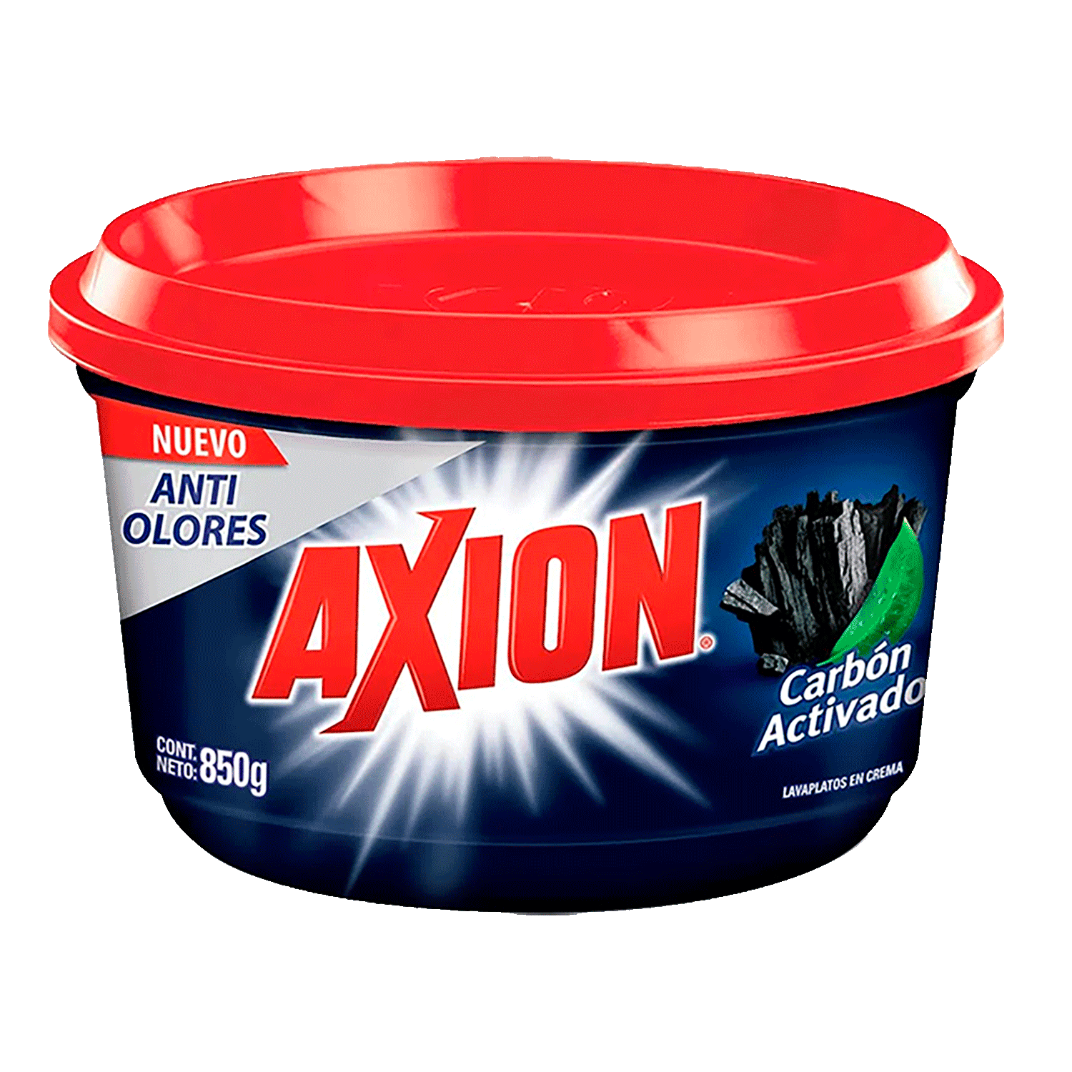 Lavaplatos Axion Carbon Activo X 850 g.